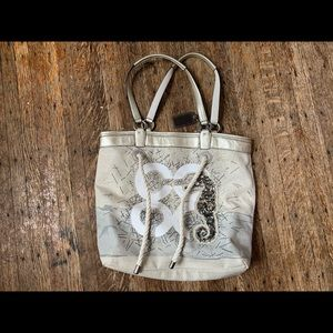 Coach cute tote with seahorse